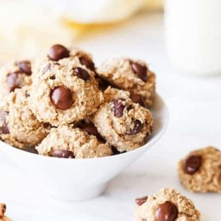 banana oatmeal cookies with chocolate chips gluten free