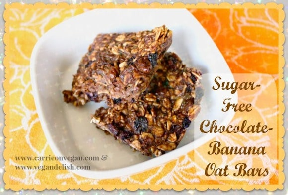 Chocolate-Banana Oat Bars for a healthy snack or dessert.
