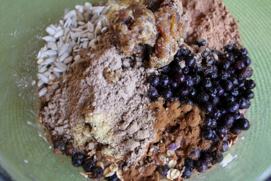 ingredients for Chocolate Banana Oat Bars