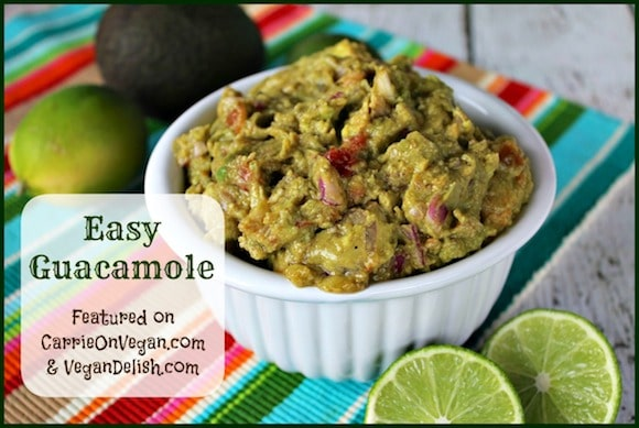 Easy Guacamole from Carrie on Vegan | www.carrieonvegan.com