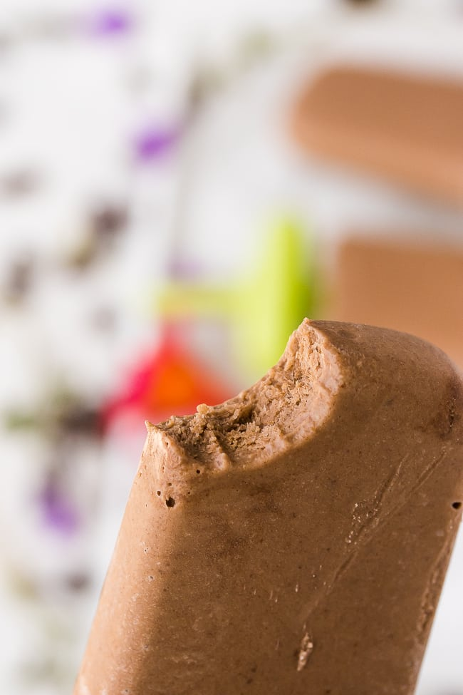 vegan fudgesicles chocolate bite