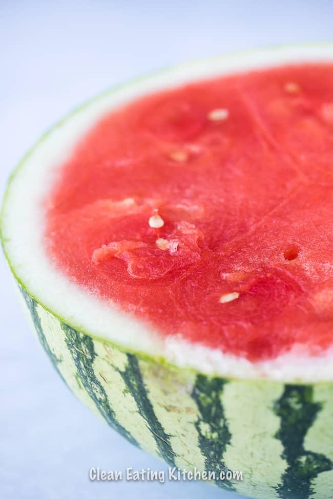 vegan watermelon slushy sliced