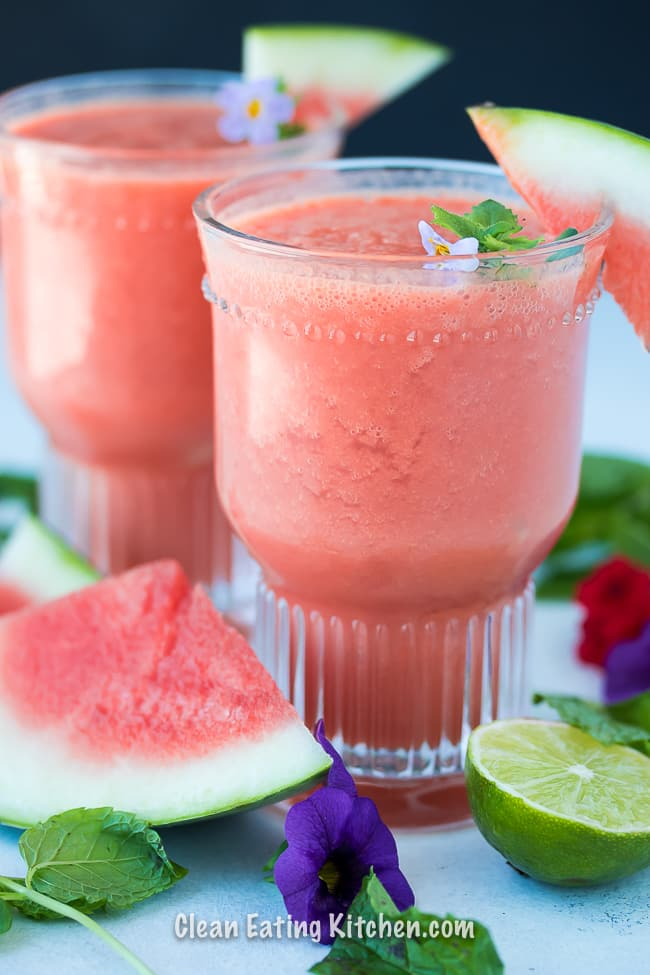 vegan watermelon slushy frozen