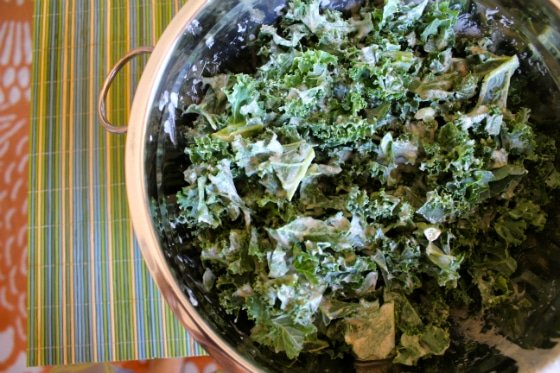 Strangely Addictive Almond Butter Kale Salad Clean