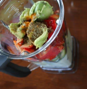 Chunky Zucchini Soup and My Vegan-Versary