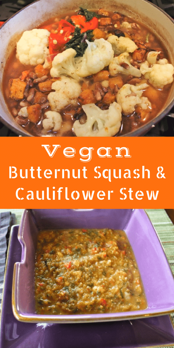 Vegan Butternut Squash & Cauliflower Stew