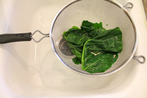 Making steamed collard wraps from Carrie on Living