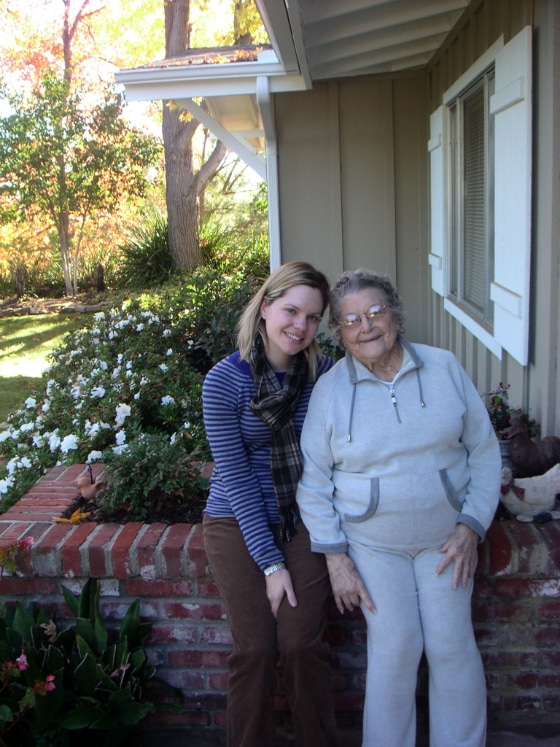 Carrie with Grandma. XO.