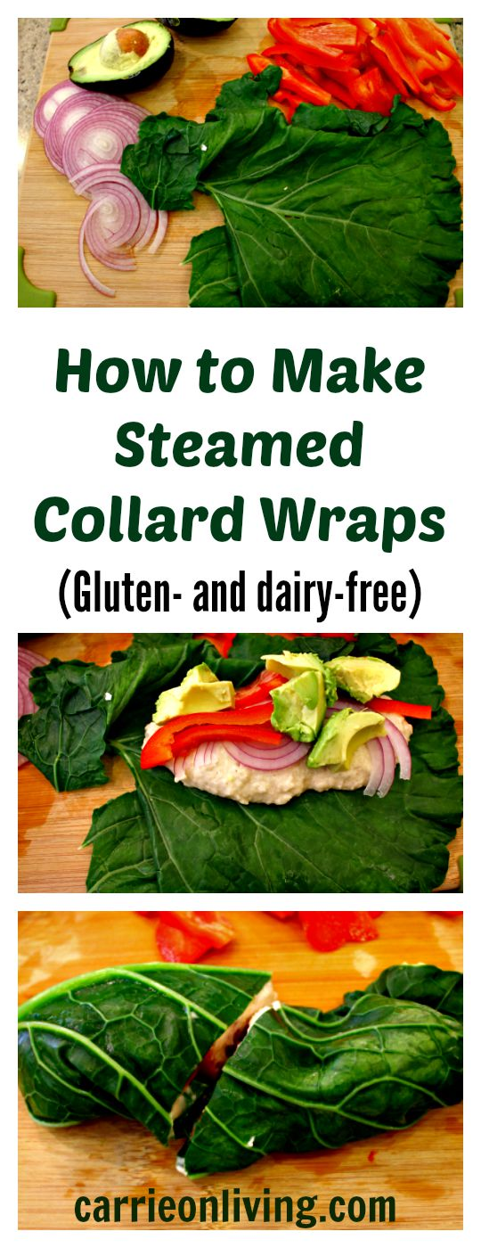 How to Make Steamed Collard Wraps from Carrie on Living