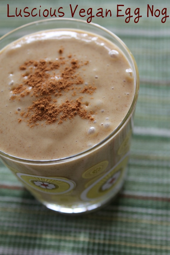 Dairy-Free Egg Nog Smoothie from Carrie on Living | www.cleaneatingkitchen.com