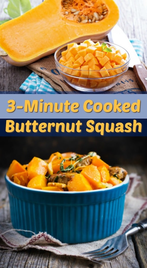 How to cook butternut squash in a pressure cooker in 3 minutes! This is a healthy and easy side dish. | Instant Pot, pressure cooker recipe, vegan recipe, butternut squash, thanksgiving side dish, easy side dish