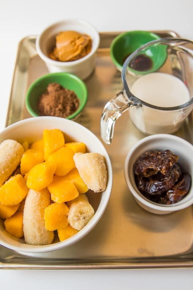 vegan chocolate peanut butter banana ice cream ingredients