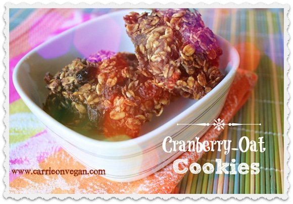 Cranberry Oat Cookies from Carrie on Living | www.cleaneatingkitchen.com