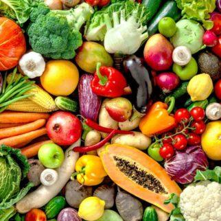 platter of vegetables
