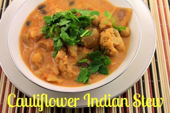 Slow-Cooker Cauliflower Indian Stew for a plant-based meal