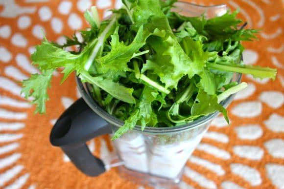 Mizuna green smoothie