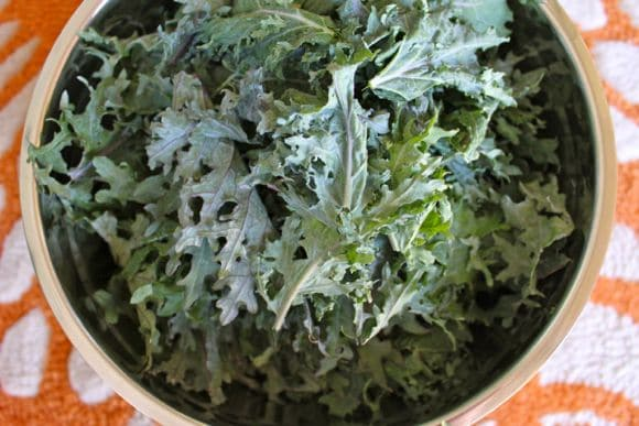 Dairy-Free Cheezy Kale Salad from Carrie on Living | www.cleaneatingkitchen.com