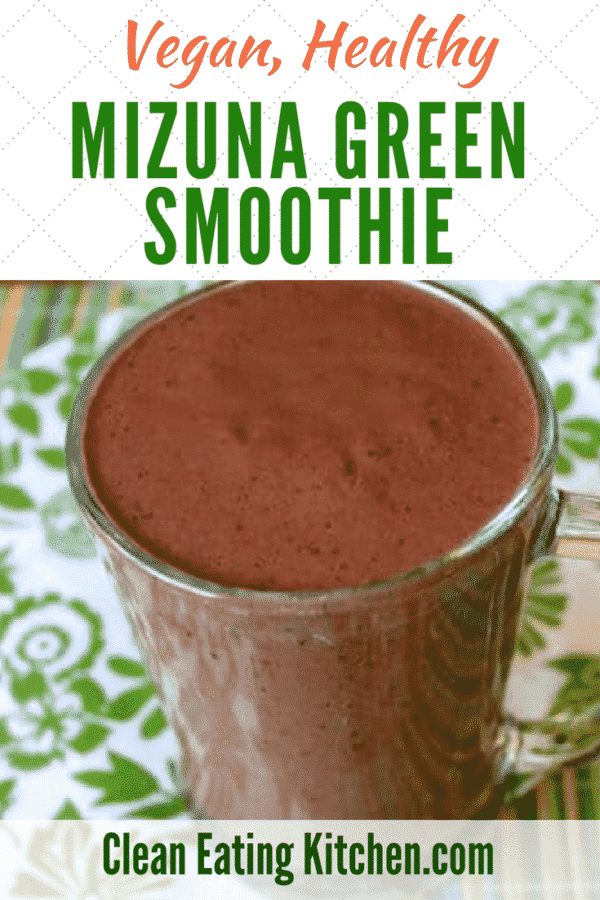 Vegan Mizuna Green Smoothie