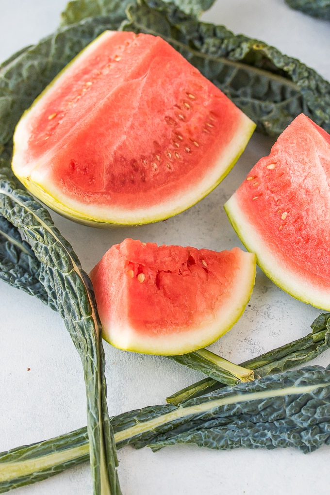 watermelon and kale for juicing