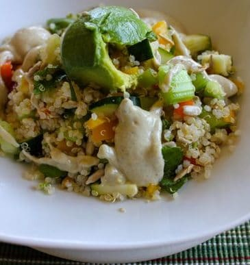 Quinoa Salad with Creamy Hemp Dressing