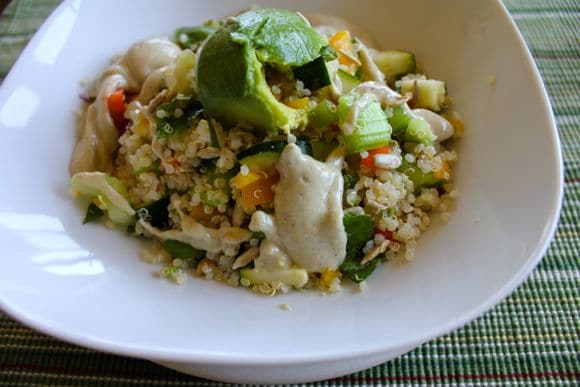 Get Your Veggies Quinoa Salad with Creamy Hemp Dressing