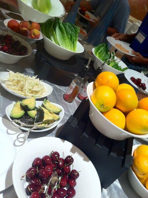 Salad bar at Dr. Fuhrman's Immersion.