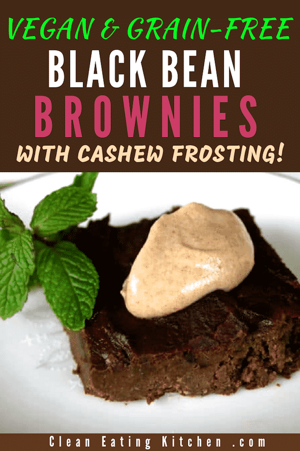 Black bean brownies with cashew frosting