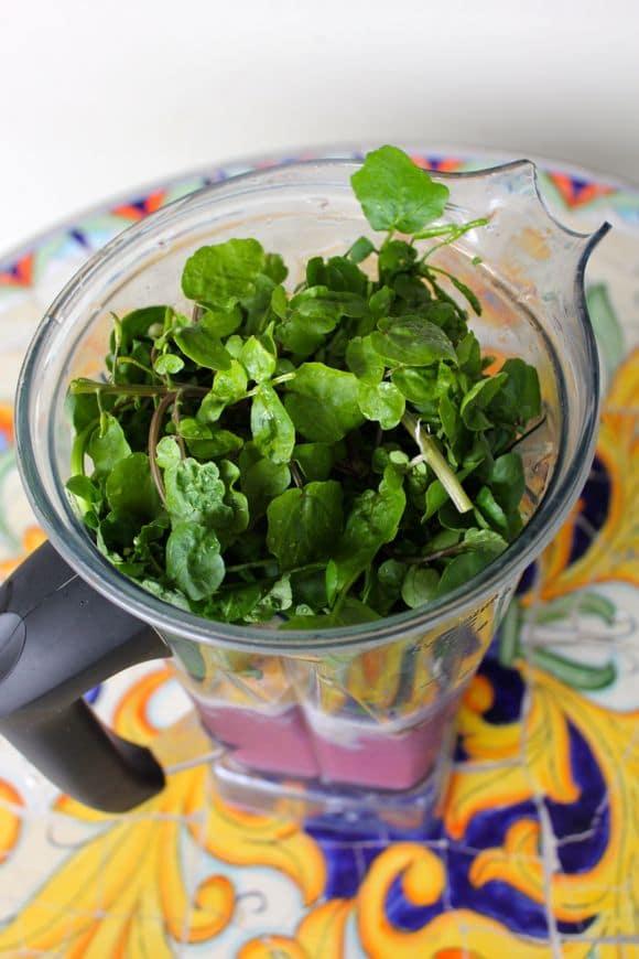 Ingredients for Sweet Watercress Smoothie