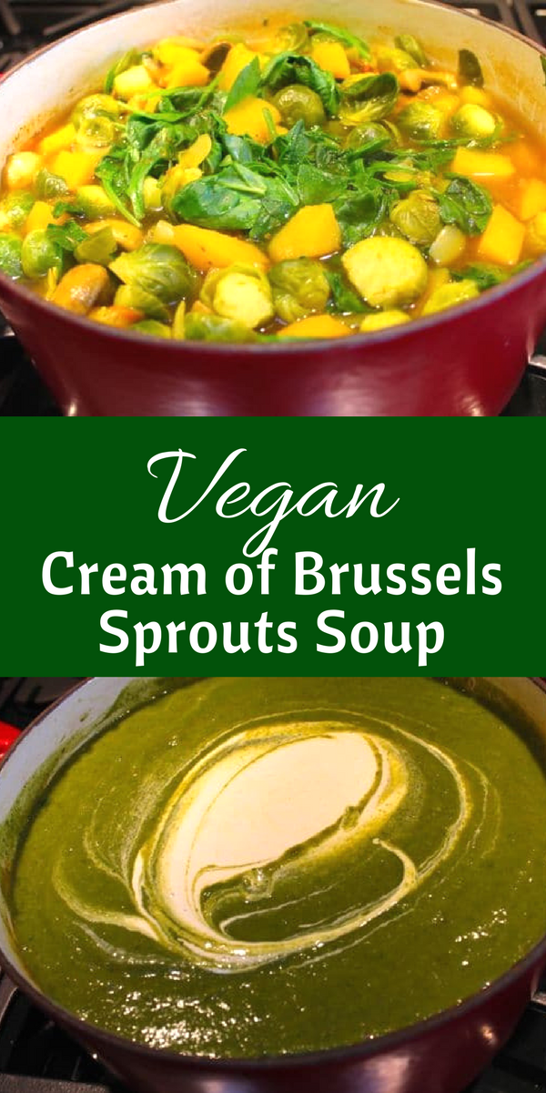 Vegan Cream of Brussels Sprouts Soup