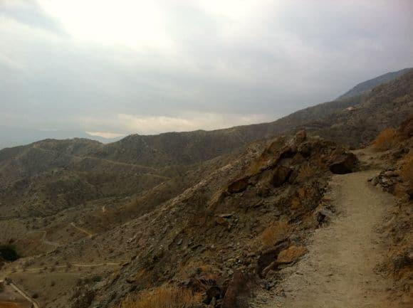 Cloudy skies in the desert.