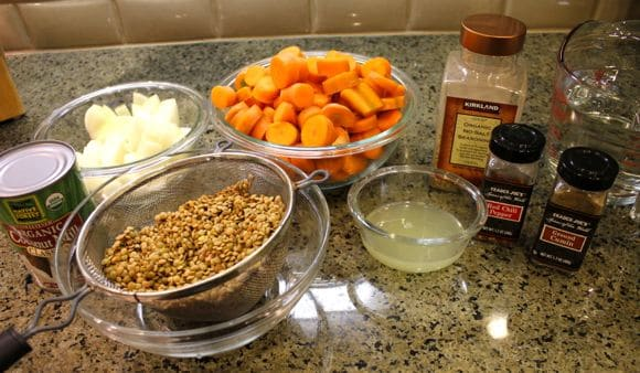 Ingredients for Ginger-Carrot Soup