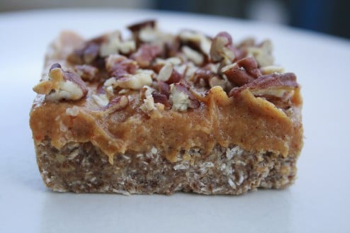 Raw Pecan Pie Bars from Sweet & Healthy Living