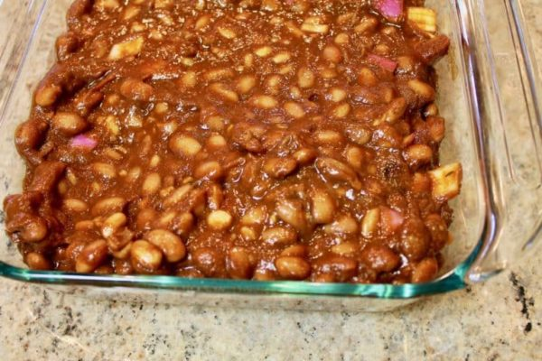 BBQ Baked Beans pan