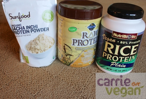 Vegan protein powders.
