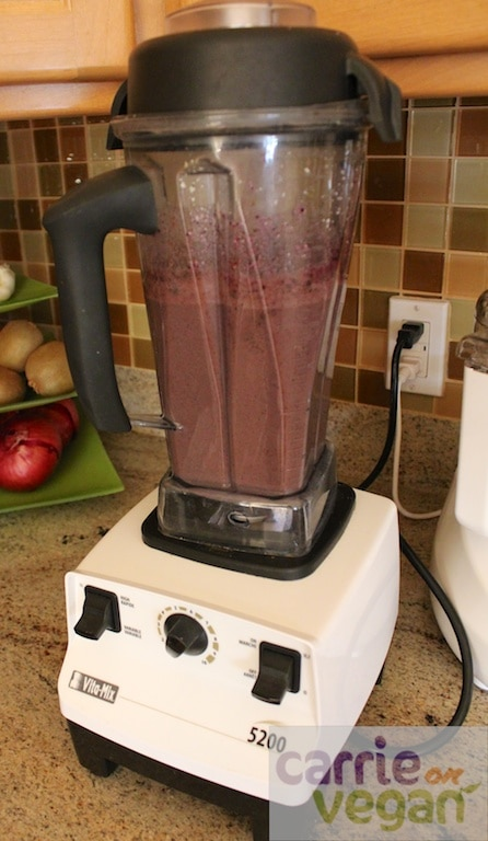 Vegan Protein Shake all blended up.
