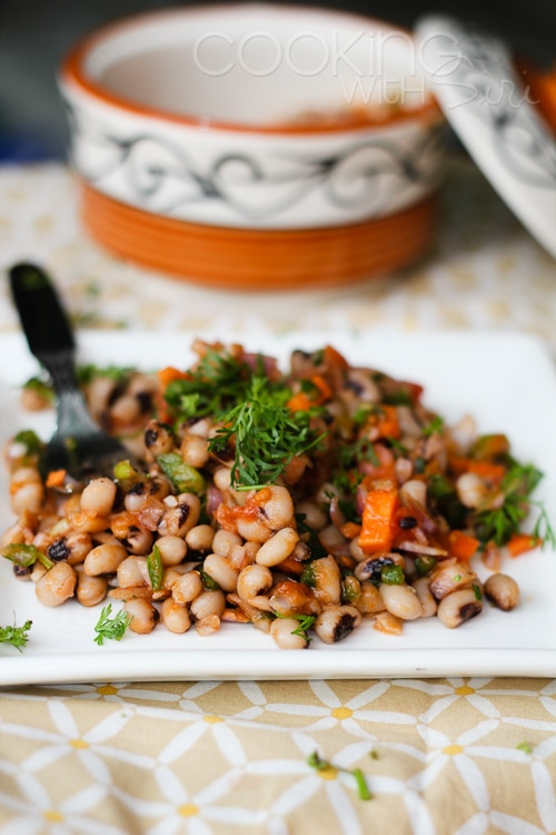 Black-Eyed Pea & Stewed Tomato Salad from Cooking with Siri