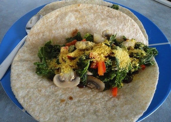 Easy Kale Lunch Wrap from Vegans Eat Yummy Food Too!!!