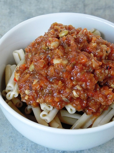 Eat to Live Bolognese Sauce from Chef Amber Shea