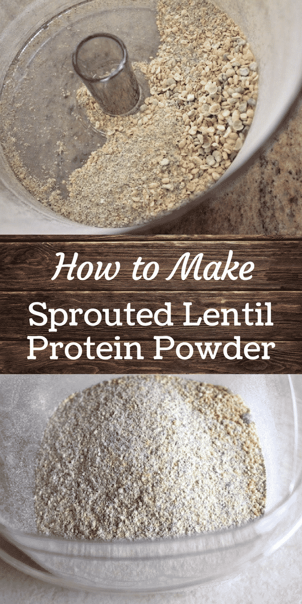 How to Make Sprouted Lentil Protein Powder