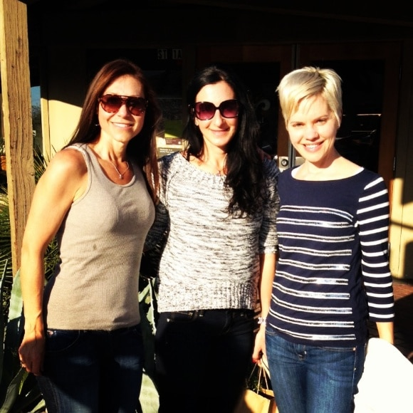 Deb, Kalli and Carrie: blogger buds!