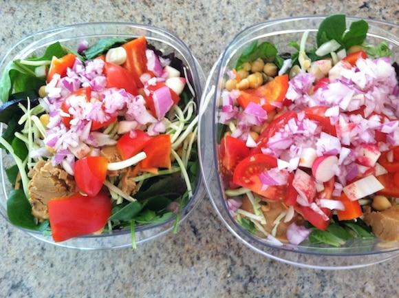 Road trip salads.