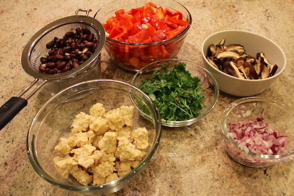 Ingredients for Curried Tempeh Tacos