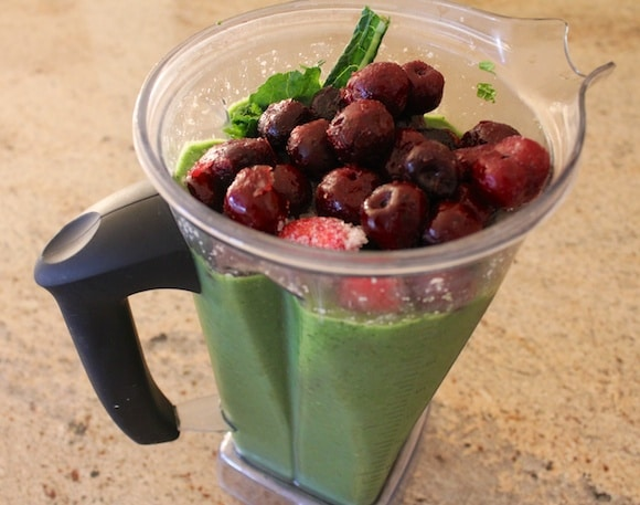 Fruit to sweeten the green smoothie.