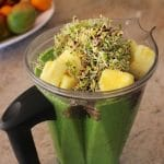 Broccoli Sprout Smoothie from Carrie on Living | www.cleaneatingkitchen.com