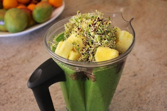 Broccoli Sprout Smoothie that is dairy-free and delicious!