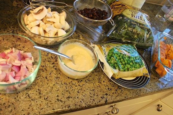 Ingredients for Kale & Spring Pea Mashup
