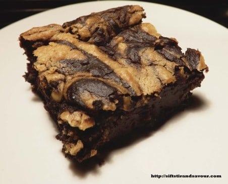 Peanut Butter Swirl Brownies from Sift, Stir & Savour