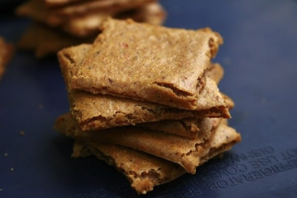 Raw Spicy Cheese Crackers from Sweet & Healthy Living