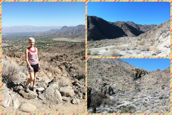 Winter hiking in Palm Springs.