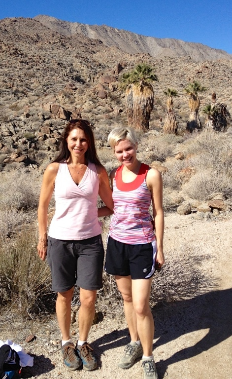 Hiking buddies, Deb and Carrie